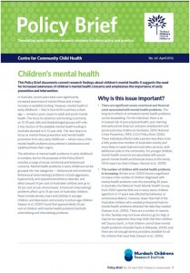 Latest Policy Brief Out Now Children S Mental Health