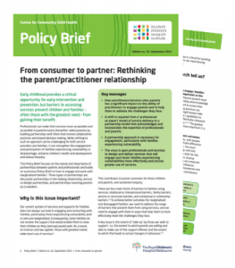 Image of Policy Brief 32 From Consumer to partner