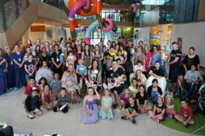 RCH patients, families and staff wave goodbye to the community on Seven's live telecast of the Good Friday Appeal.