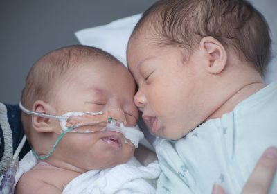 Month old twins Leila and Lukas reunited for World Prematurity Day